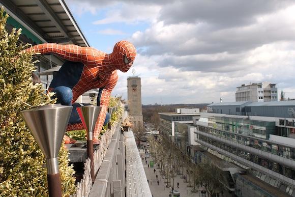 Spiderman über Stuttgart