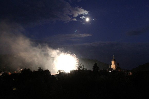 Feuerwerk im Rahmen des Waltershäuser Sambafests